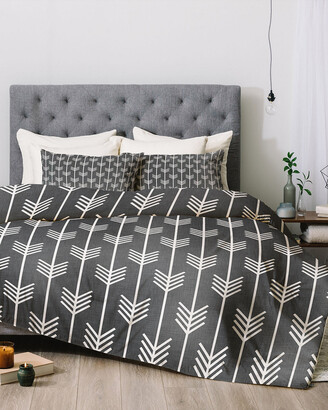 Deny Designs Holli Zollinger Arrows Grey Comforter Set
