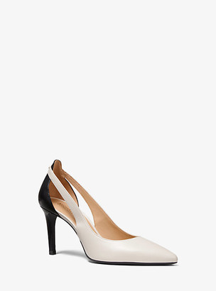 Michael Kors Cersei Leather Cutout Pump