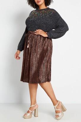ModCloth Glitz the Best Metallic Midi Skirt