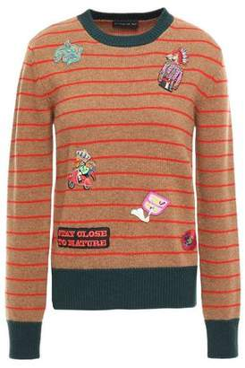 Etro Appliqued Striped Wool Sweater