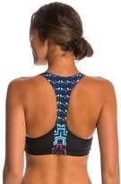 Mara Hoffman Yoga Rugs Racerback Mesh Yoga Sports Bra 8144948