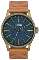 Nixon A105-2731 Men's Watch Sentry Leather Tan 42mm Stainless Steel