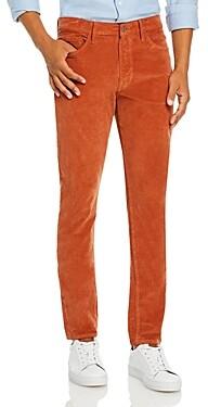 Joe's Jeans Asher Corduroy Slim Fit Pants in Orange Rust