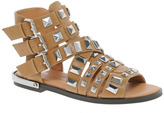 River Island Parch Gladiator Tan Heavy Studded Sandals