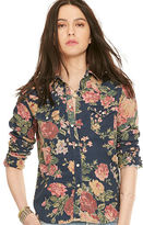 Denim & Supply Ralph Lauren Floral Corduroy Western Shirt