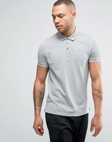 Armani Jeans Pique Logo Polo Regular Fit in Charcoal