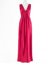A.B.S. Long V-Neck Dress