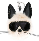 Stella McCartney punk rabbit keyring - women - Modacrylic/Artificial Leather - One Size