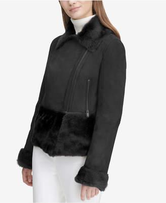 Calvin Klein Shearling Moto Jacket