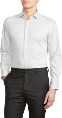 John Varvatos Trim Fit Solid Jersey Knit Dress Shirt