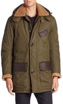 Rainforest Fur-Trimmed Long Sleeve Jacket