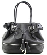 Cole Haan Reilly Tassel Tote Leather Tote.