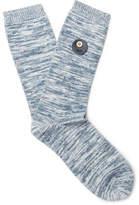 Folk Melangé Cotton-Blend Socks