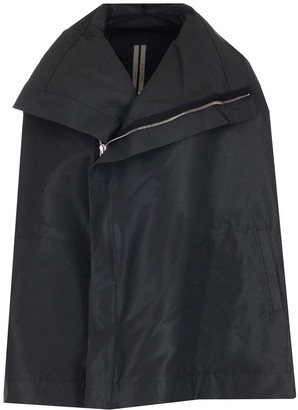 Rick Owens Zipped Cape Jacket