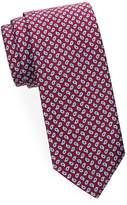 Brioni Men's Mini Paisley Silk Tie - Burgundy