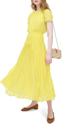 J.Crew Embroidered Chiffon Midi Dress