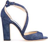 Jimmy Choo Carrie 100 denim sandals