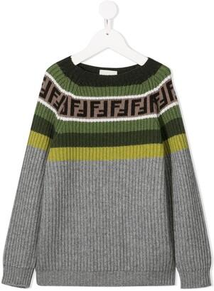 Fendi Kids striped FF jumper