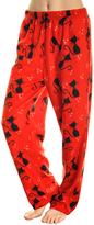 Angelina Black & Red Cat Fleece Pajama Pants - Plus Too