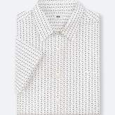 Uniqlo Men's Broadcloth Printed Short-sleeve Shirt