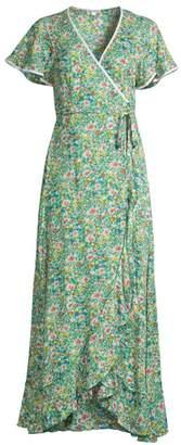 Poupette St Barth Joe Ruffled Floral Maxi Dress