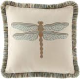 Elaine Smith Aqua Dragonfly Pillow