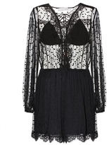 Zimmermann Oleander Lattice embroidered silk playsuit