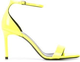 Saint Laurent square toe stiletto sandals