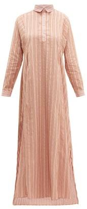 Thierry Colson Tiziana Striped Fil-coupe Dress - Womens - Pink