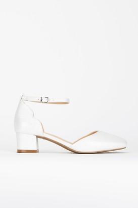 Wallis **White Ankle Strap Heel Shoe