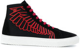 Marcelo Burlon County of Milan mid-top sneakers with wing graphic