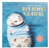 Chronicle Books Baby Animals In Sweaters 2018 Wall Calendar - Blue