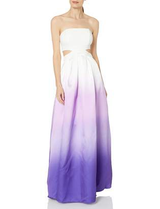 Decode 1.8 Women's White/Purple Ombre Strapless with Cutouts Dress 4