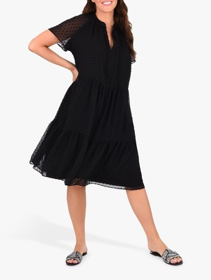 Live Unlimited Curve Dobby Dress, Black