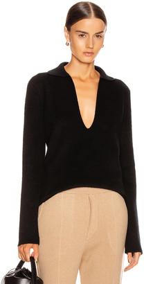Jil Sander Deep V Sweater in Black | FWRD