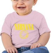 ALIZISHOP Baby's Nirvana Smiley Face Short Sleeve T Shirts