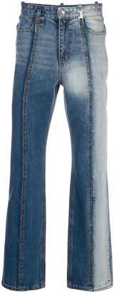 Ader Error Faded Straight-Leg Jeans