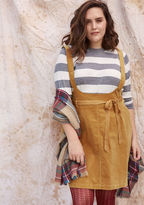 ModCloth A-Line Corduroy Jumper with Pockets in 4X
