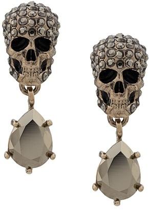 Alexander McQueen Skull Drop Pendant Earrrings