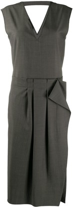 Rochas elastic waist dress