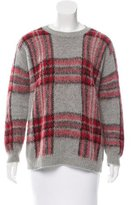 Sandro Plaid Long Sleeve Sweater