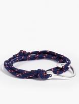 Miansai Navy Silver-plated Hook Bracelet
