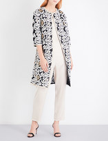 St. John Floral-embroidered coat