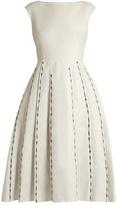 Bottega Veneta Embroidered cap-sleeved linen-blend dress