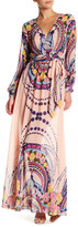 Ark & Co Printed Surplice Maxi Dress