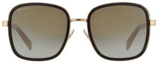 Jimmy Choo Elvas 54MM Square Glitter Sunglasses
