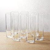 CB2 Set Of 8 Cylinder Champagne Flutes