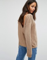 Missguided V-Neck Back Sweater