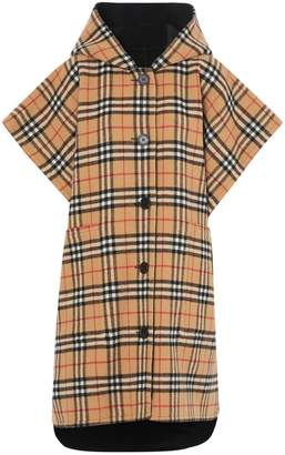 Burberry Reversible Vintage Check Hooded Poncho
