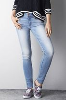 American Eagle Outfitters Light Clean Indigo Mid-Rise Super Skinny Jeans, Womens 12 Regular By